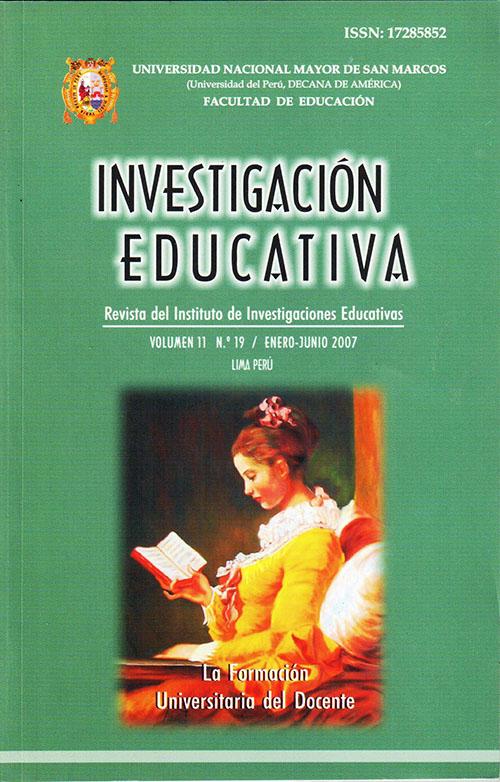 Ver Vol. 11 Núm. 19 (2007): La Formación Universitaria del Docente