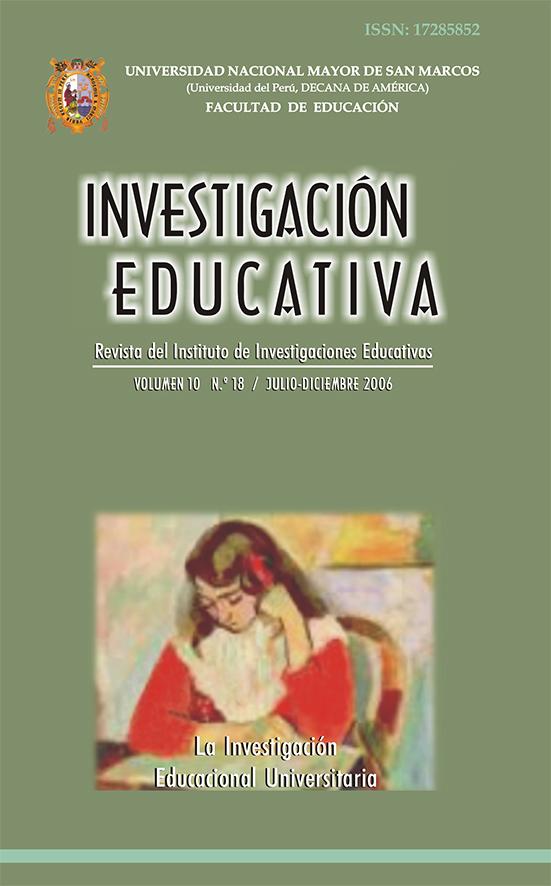 Ver Vol. 10 Núm. 18 (2006): La Investigación Educacional Universitaria