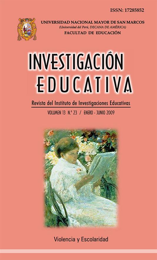 Ver Vol. 13 Núm. 23 (2009): Violencia y Escolaridad