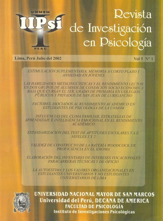 Ver Vol. 5 Núm. 1 (2002)