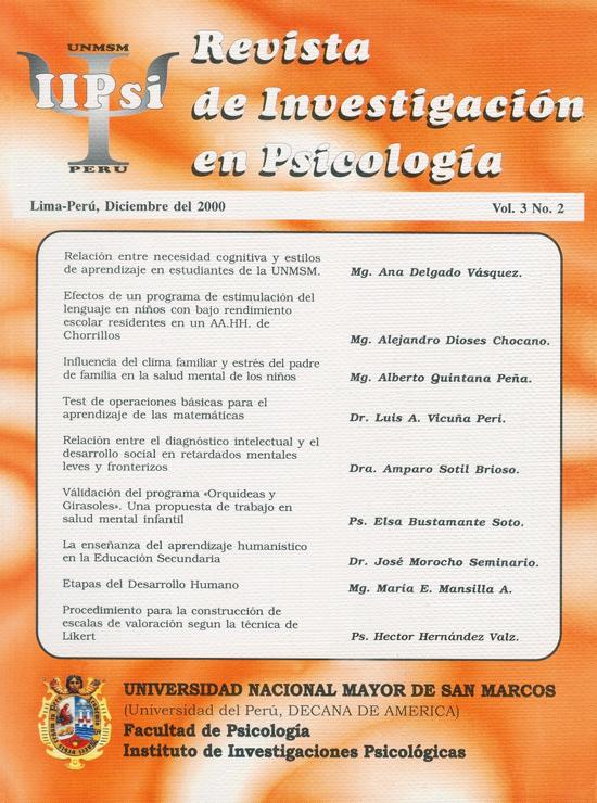Ver Vol. 3 Núm. 2 (2000)