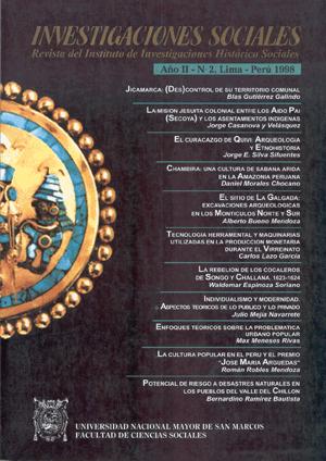 Ver Vol. 2 Núm. 2 (1998)