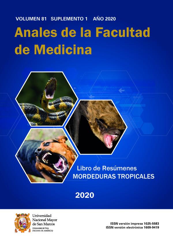 Ver Vol. 81 Núm. Supl1 (2020): Libro de Resúmenes: Mordeduras Tropicales