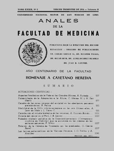 Ver Vol. 39 Núm. 3 (1956): Volumen 2