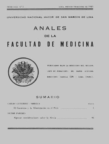 Ver Vol. 31 Núm. 1 (1948)