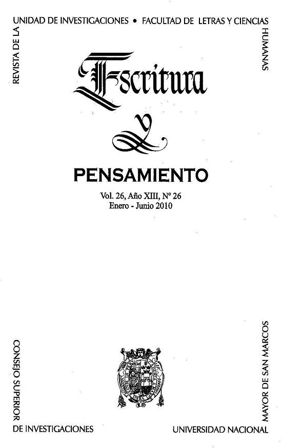 Ver Vol. 13 Núm. 26 (2010)
