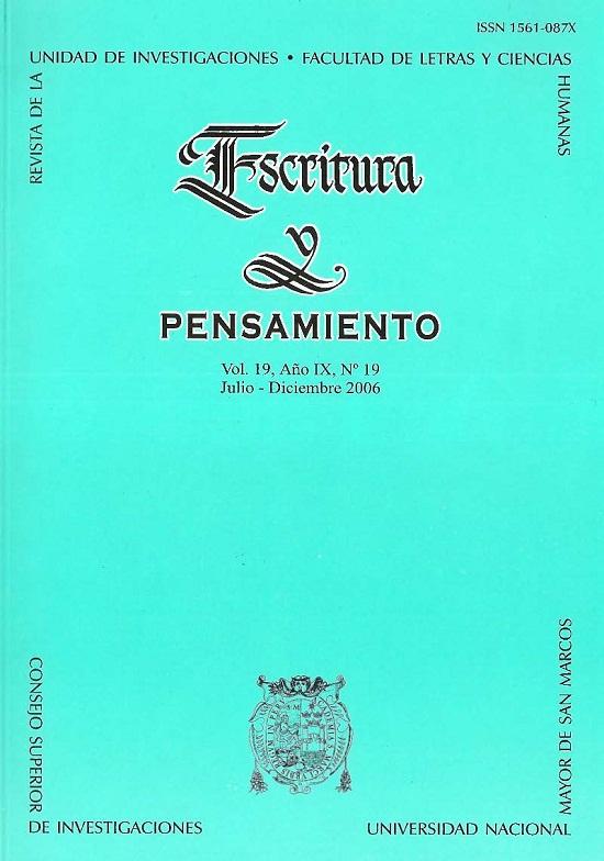 Ver Vol. 9 Núm. 19 (2006)