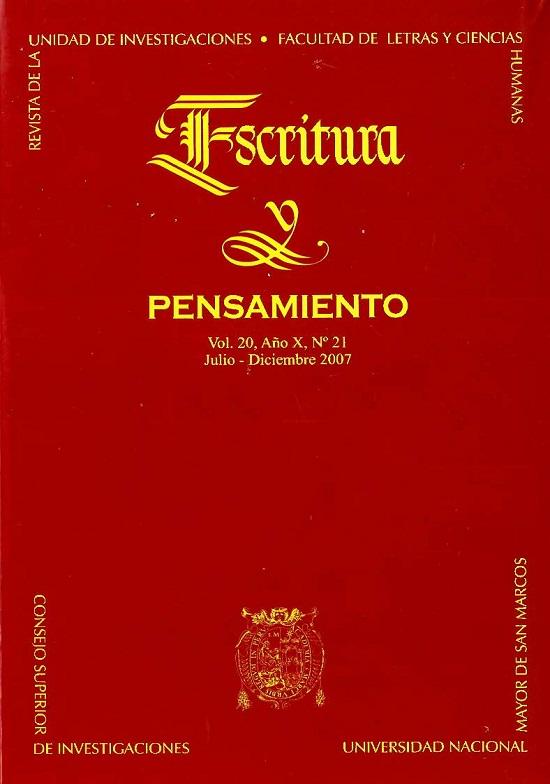 Ver Vol. 10 Núm. 21 (2007)
