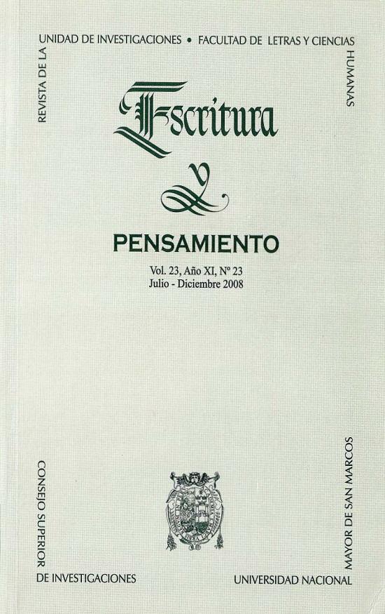 Ver Vol. 11 Núm. 23 (2008)