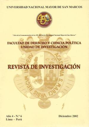 Ver Vol. 4 Núm. 6 (2002)
