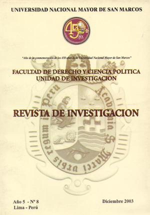 Ver Vol. 5 Núm. 8 (2003)