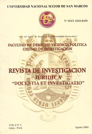 Ver Vol. 6 Núm. 1 (2004)