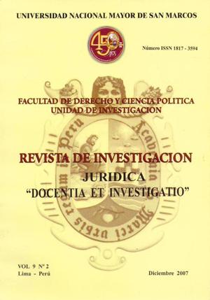Ver Vol. 9 Núm. 2 (2007)