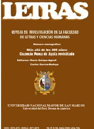 """Ver Vol. 91 Núm. 133 (2020): Enero - Junio. Monográfico """"Más allá de los 400 años: Guamán Poma de Ayala revisitado"""""""